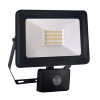 FLOODLIGHT 30W 4000K MOTION SENSOR BLACK GTL430