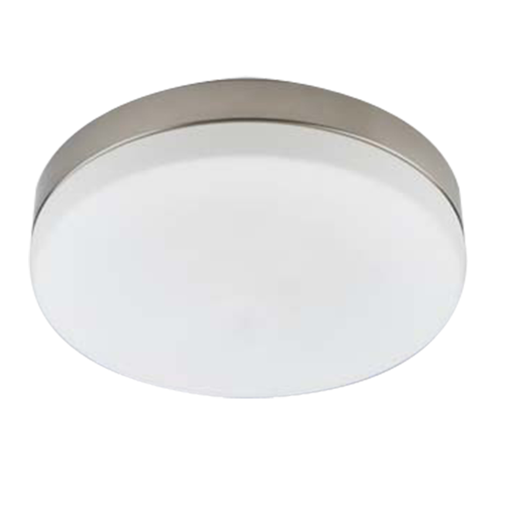 CEILING FITTING 2LT ROUND IP44  SATIN CHROME EL1023/83