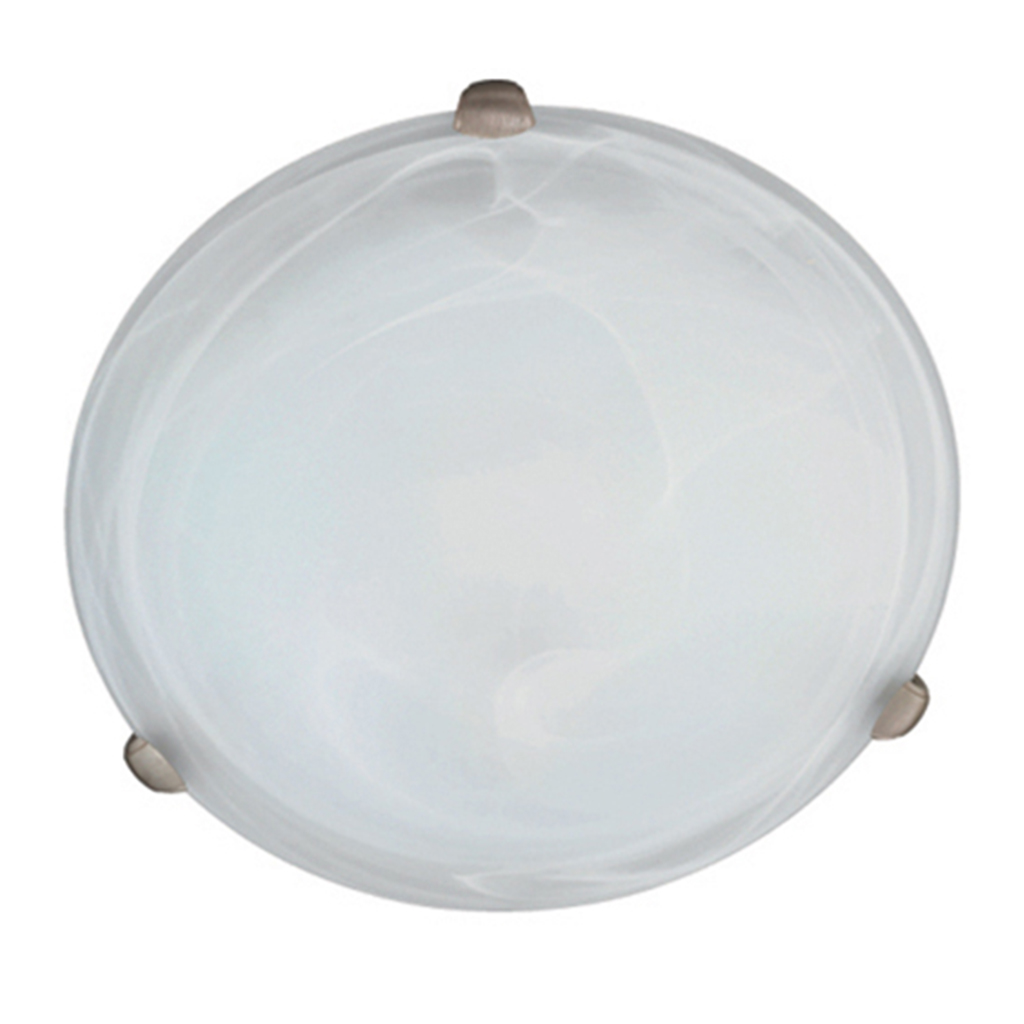 CEILING FITTING 2LT E27 ALABASTER CHROME EL1024