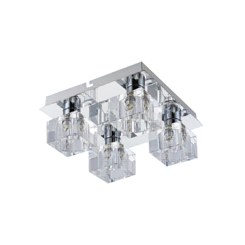 CEILING FITTING 4LT G9 CHROME/CRYSTAL EL2003
