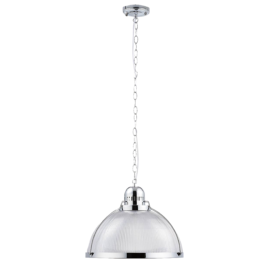 PENDANT FITTING 1LT ACRYLIC 310MM CHROME EL7010