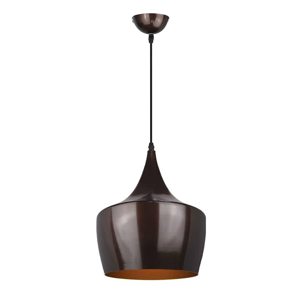 PENDANT FITTING 1LT BLACK COPPER/BRONZE INNER EL7017