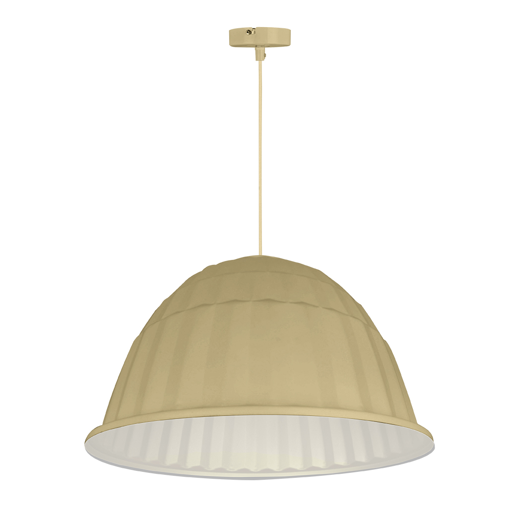 PENDANT FITTING 1LT BEIGE/GOLD INNER EL7059/03