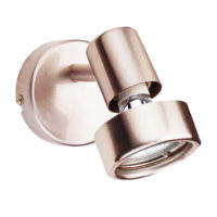 SPOTLIGHT 1LT  GU10 50W DECOR RING SATIN CHROME EL8609