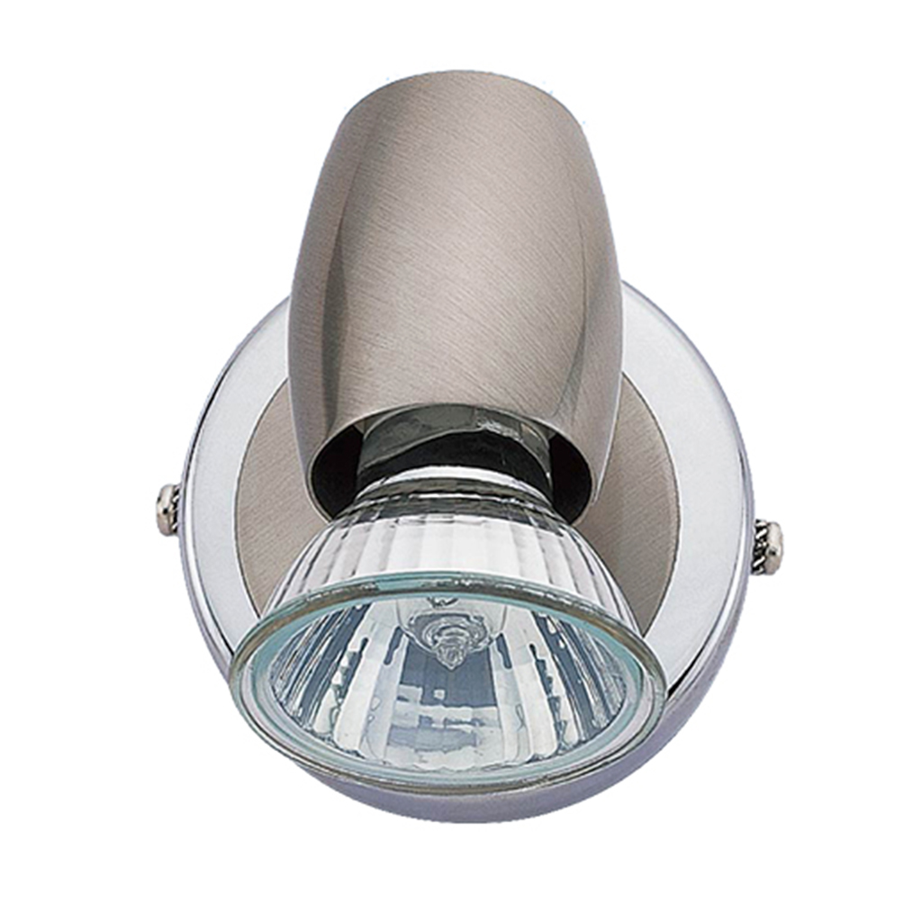 SPOTLIGHT 1LT GU10 CHROME/SATIN CHROME EL8613