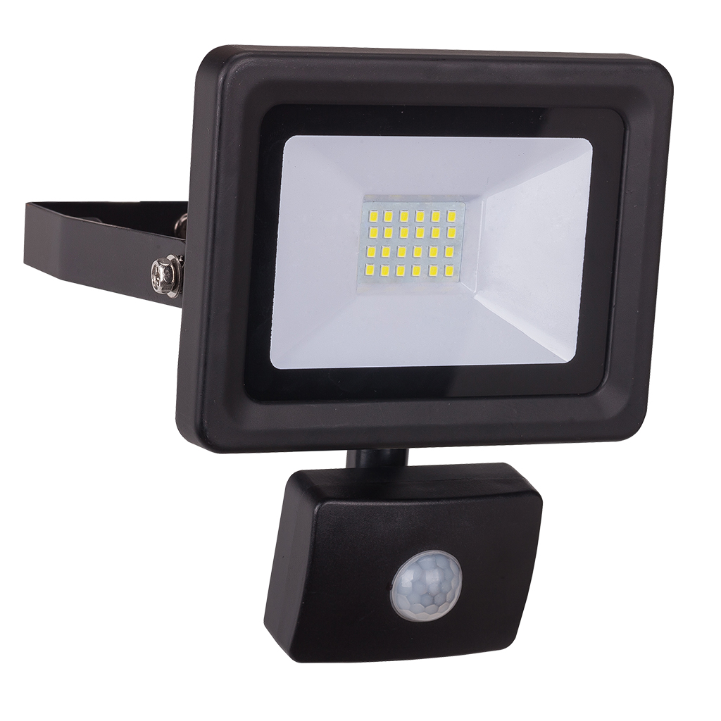 FLOODLIGHT 20W 4000K MOTION SENSOR BLACK  GTL444