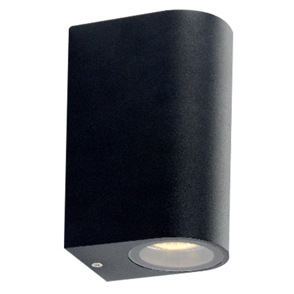 WALL FITTING 2LT 35W GU10 ARCH MATT BLACK GTL601