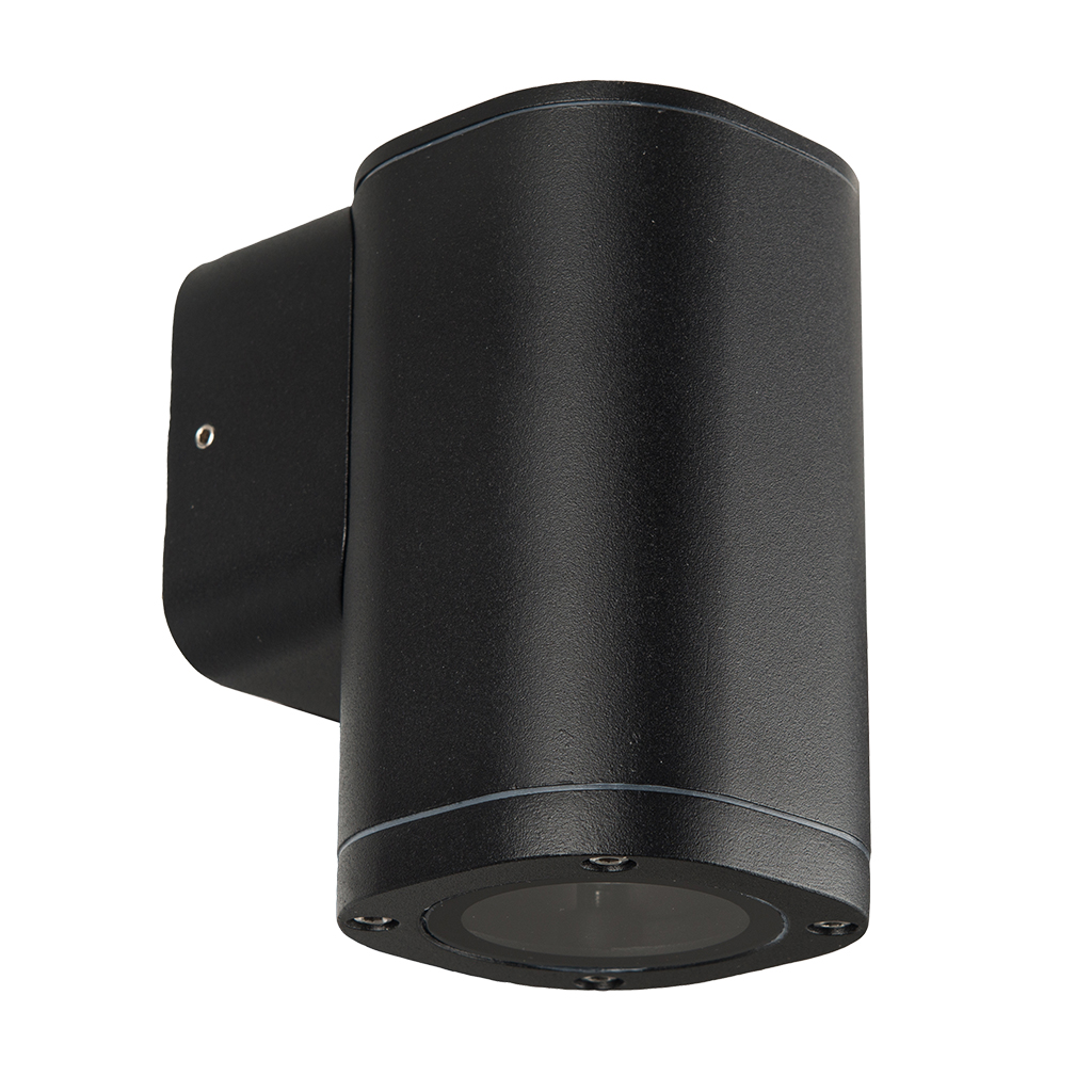 WALL FITTING 1LT 25W GU10 SQUARE TUBE BLACK GTL608
