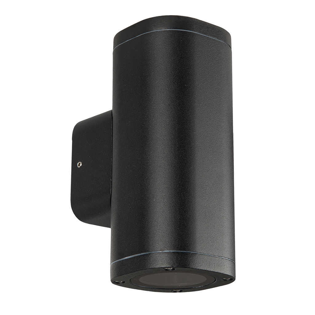 WALL FITTING 2LT 25W GU10 SQUARE TUBE BLACK GTL609
