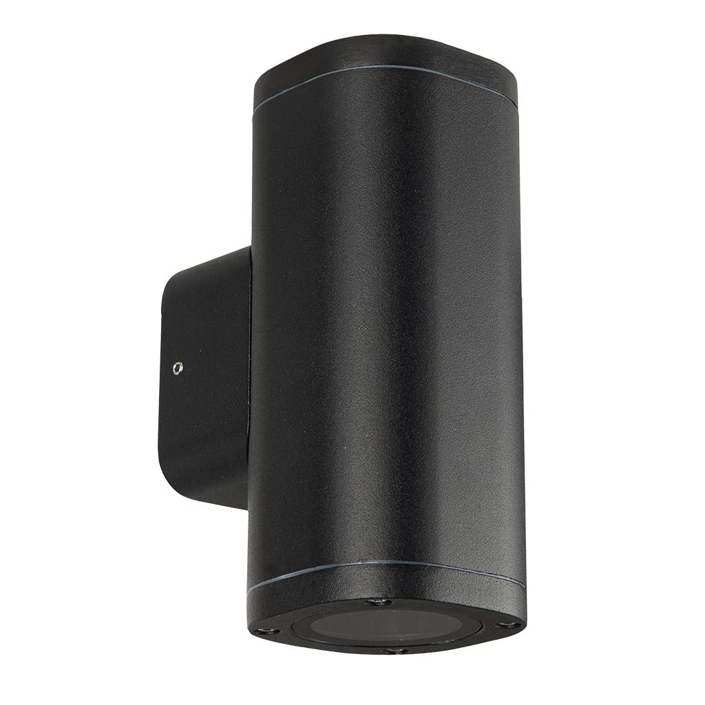 WALL FITTING 2LT 25W GU10 SQUARE TUBE BLACK GTL609