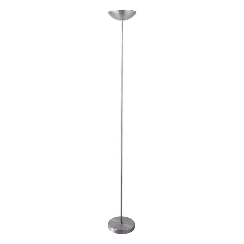 FLOORLAMP UPLIGHT HALOGEN SATIN CHROME HCL103