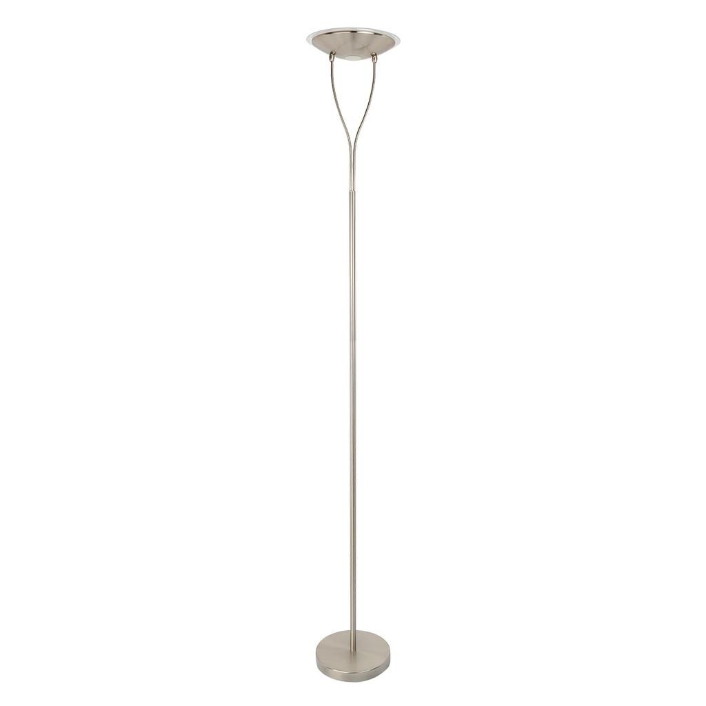 FLOORLAMP LED 18W  SATIN CHROME HCL104