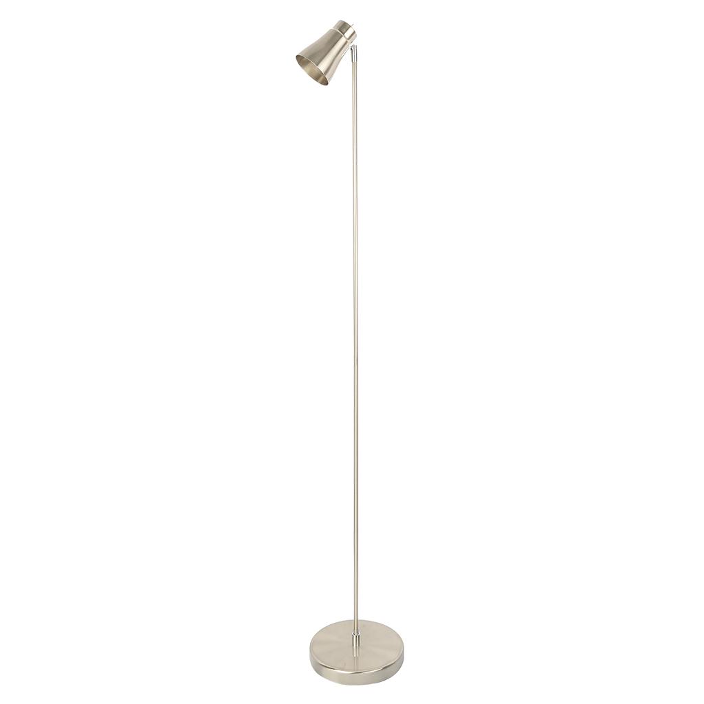 FLOORLAMP 1LT E14 SATIN CHROME HCL105