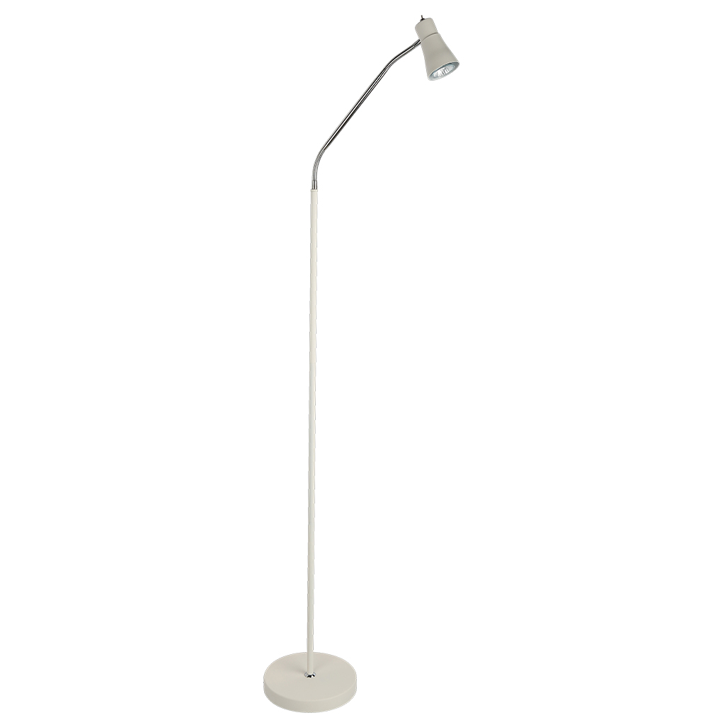 FLOORLAMP 18W GU10 BLACK/CHROME HCL109