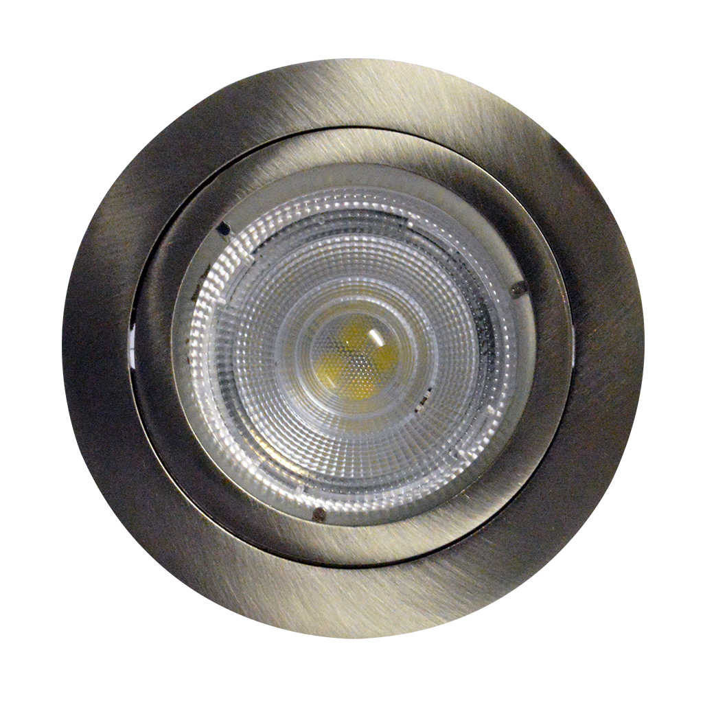 DOWNLIGHT FIXED ROUND BAYONETT SATIN CHROME JIN109/UNW