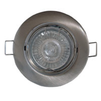 DOWNLIGHT TILT SPANISH ROUND SATIN CHROME
