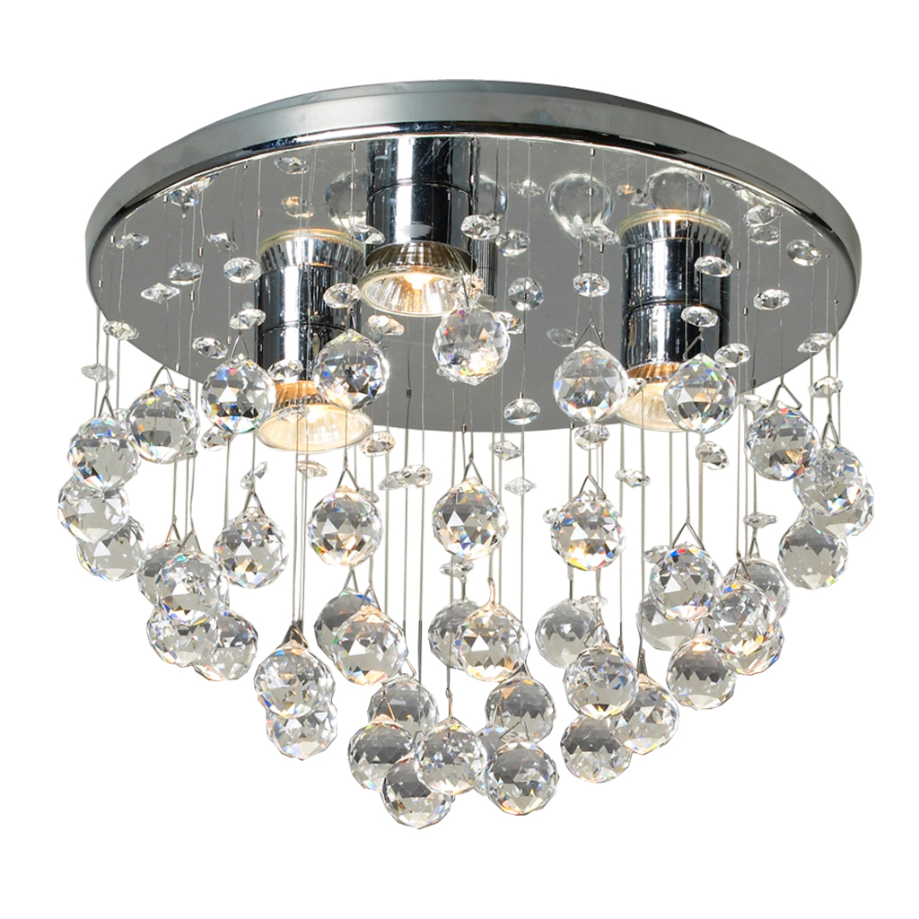 CEILING FITTING 3LT BALL CRYSTAL KAV5000/3P