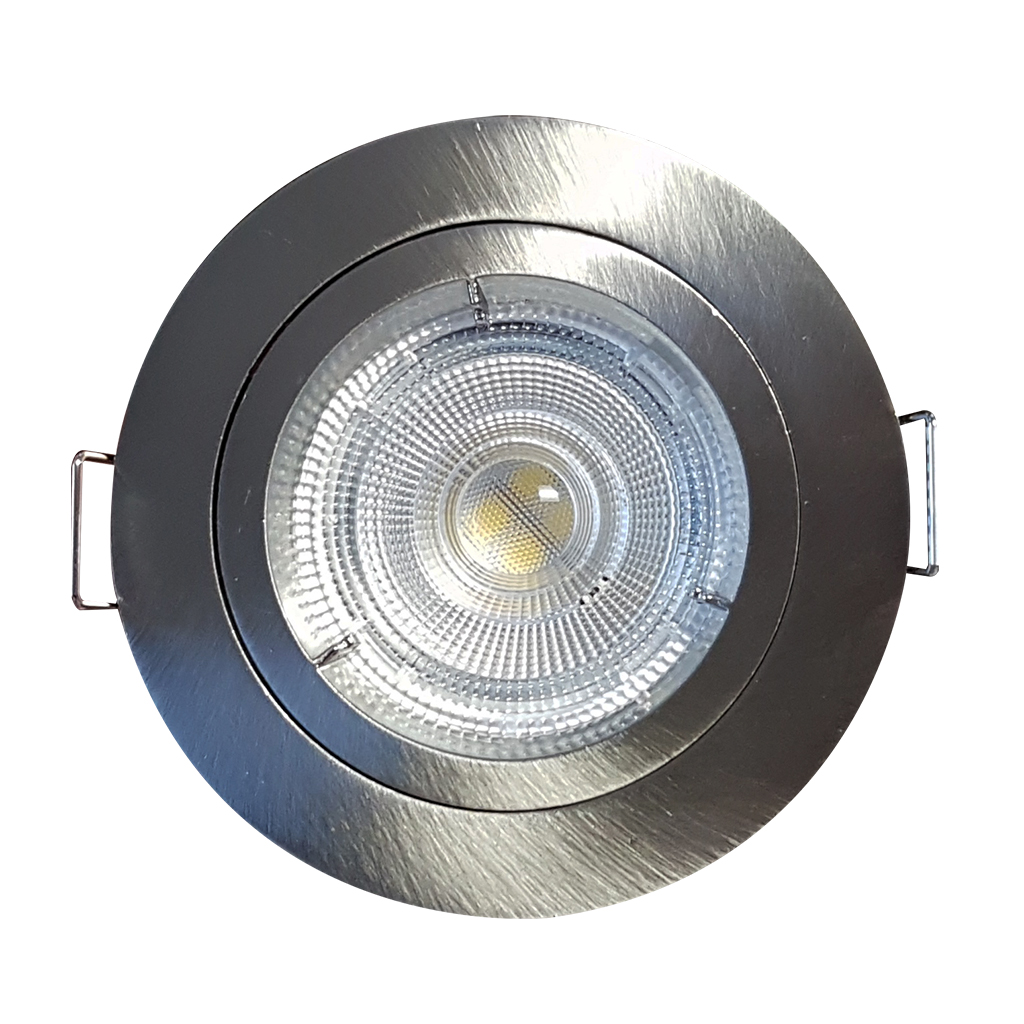 DOWNLIGHT FIXED ROUND BAYONETT SATIN CHROME KK109/72MM CUT OUT