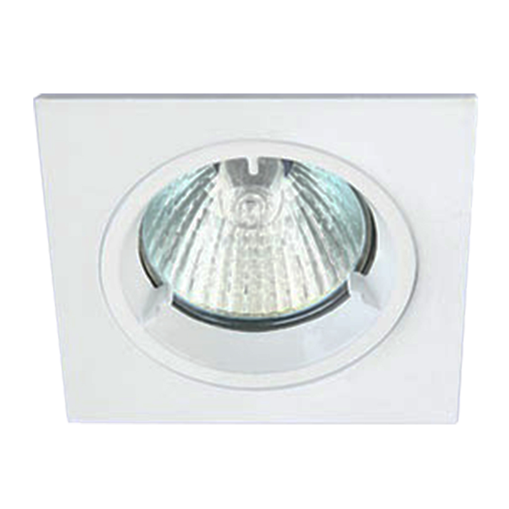 DOWNLIGHT FIXED BAYONETT SQUARE WHITE KK110/60MM CUT OUT