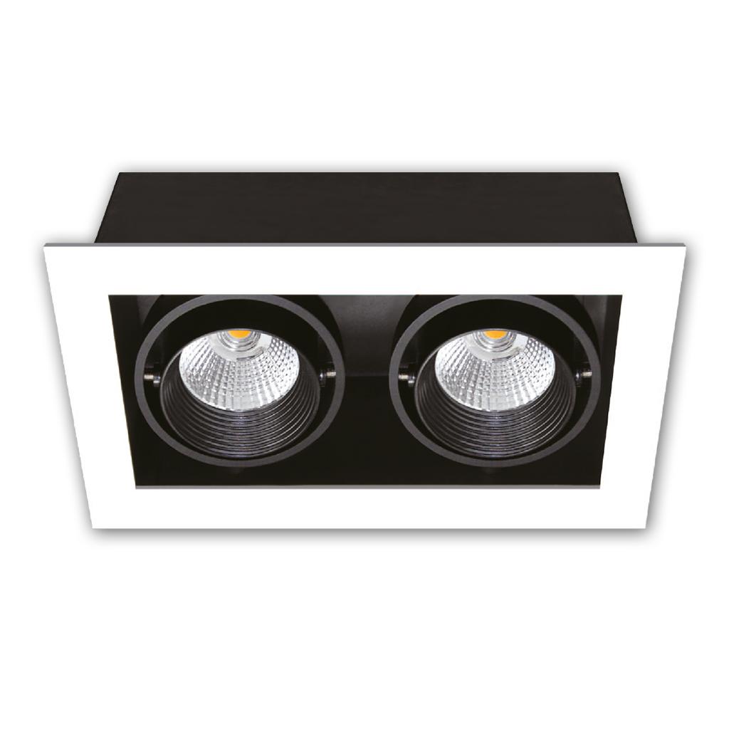 DOWNLIGHT LED 2LT 7W 3000K MATT WHITE/BLACK KK1929