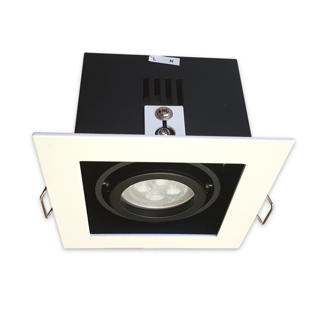 DOWNLIGHT 1LT GU10 MATT WHITE/BLACK KK1980