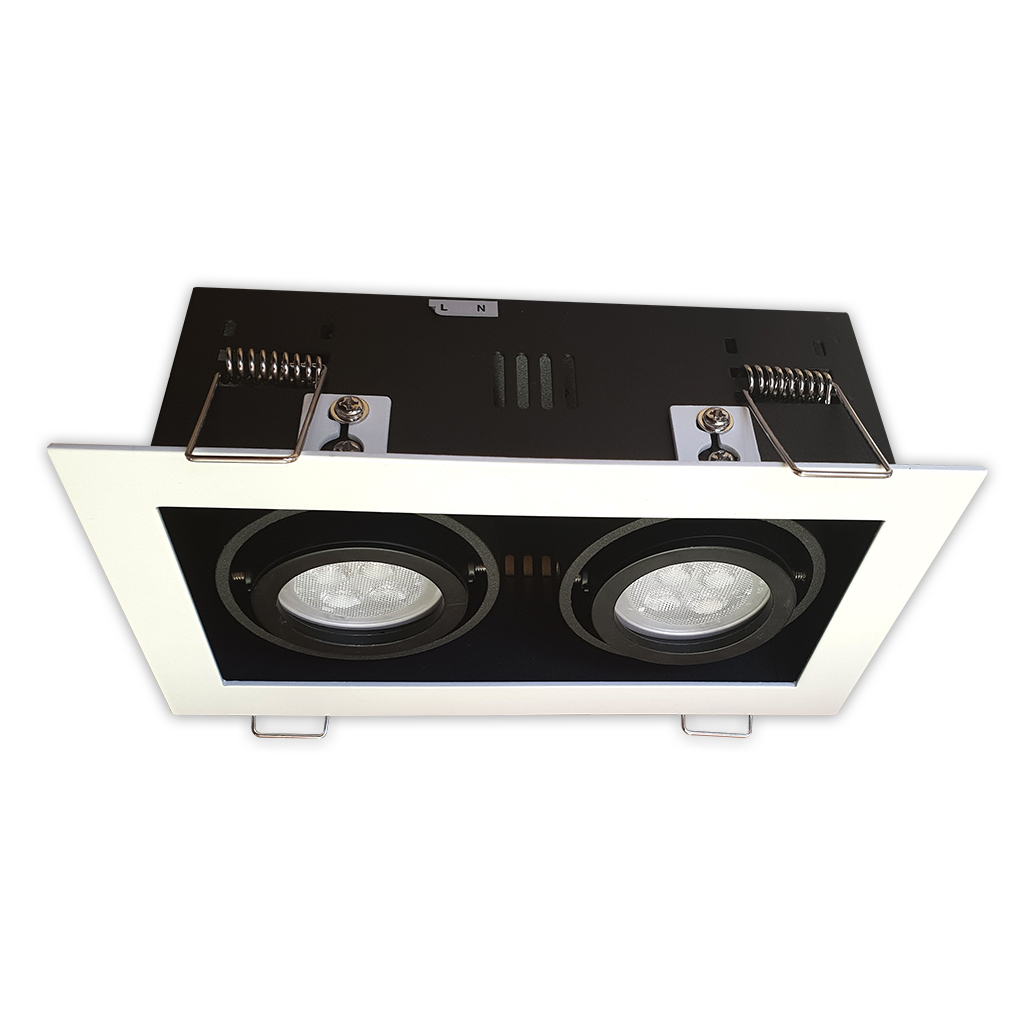 DOWNLIGHT 2LT GU10 MATT WHITE/BLACK KK1981