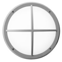 BULKHEAD LED ROUND 14W 4000K GRID  GREY LGW3002/14