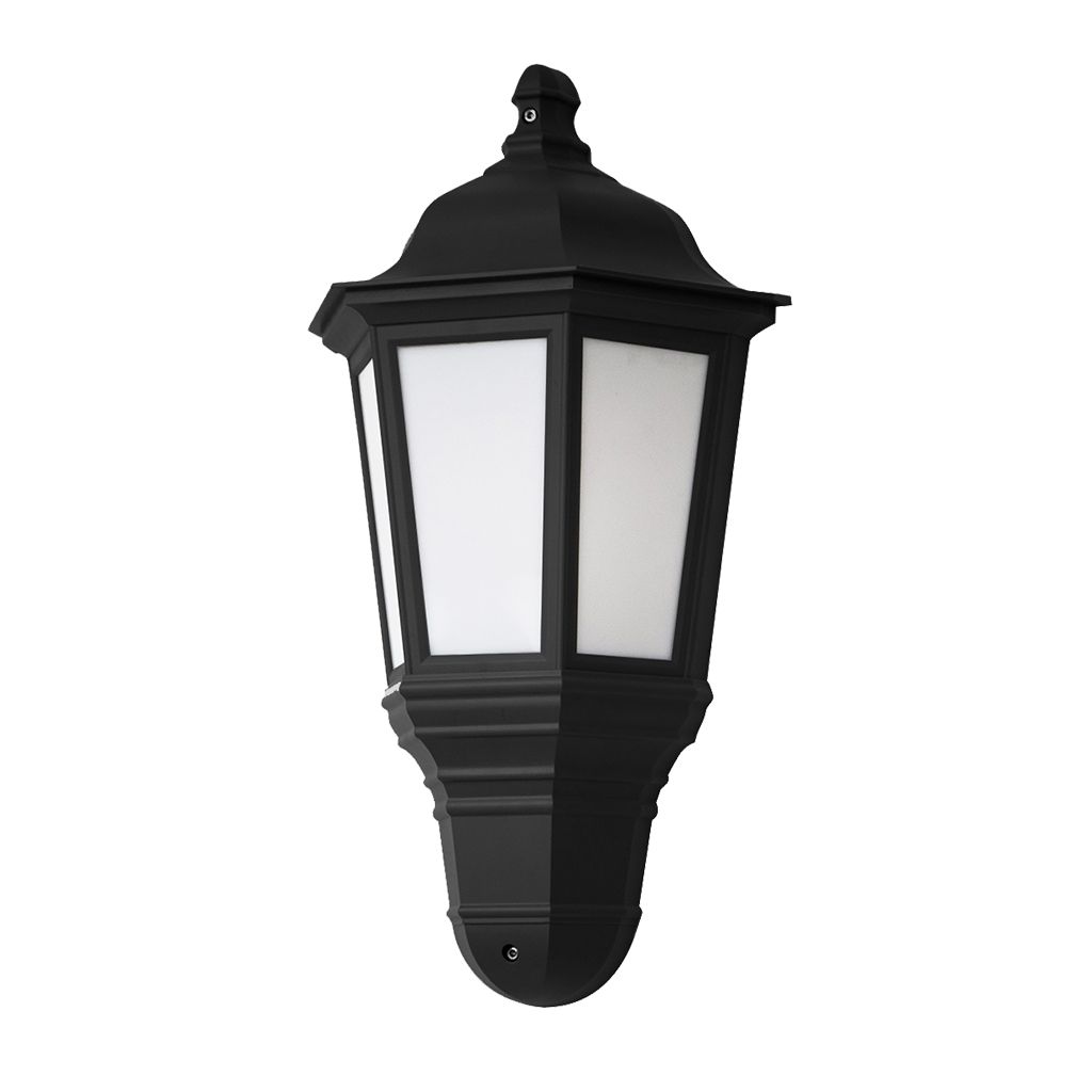 WALL LANTERN LED 9W 4000K BLACK