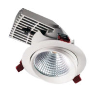 DOWNLIGHT LED 35W 3000K WHT WIRED MAN328/WW