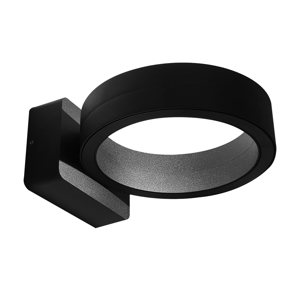 WALL FITTING LED 16W 4000K RING BLACK