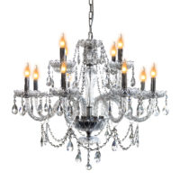 CHANDELIER FITTING 12LT E14 CRYSTAL CHROME ZCL900/12