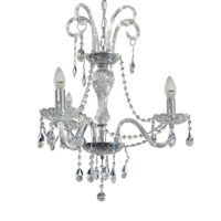 CHANDELIER FITTING 3LT 40W E14 CRYSTAL ZCL915