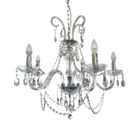 CHANDELIER FITTING 5LT E14 CRYSTAL ZCL916