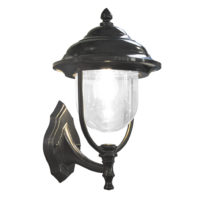 LANTERN  WALL UPTURN 1LT 14W ES BLACK ZHZ103