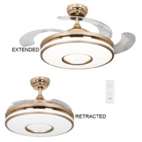 CEILING FAN GOLD RETRACTABLE PAAX90269